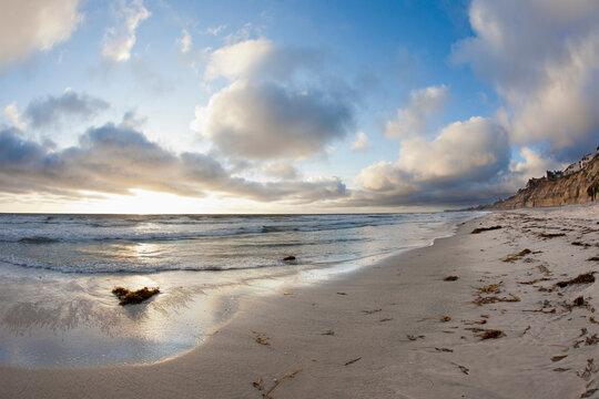 Solana Beach, California, USA at sunset