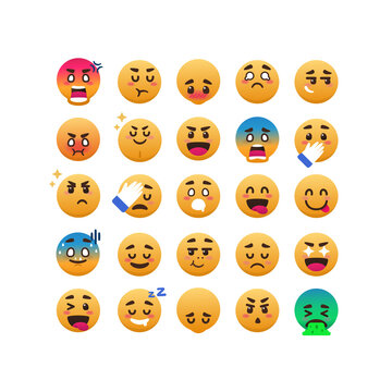 funny and expressive emoticon set