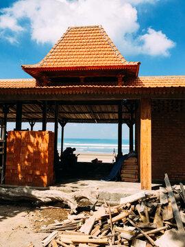A construction on the beach