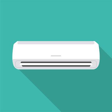 Air conditioner flat design icon. Vector illustration