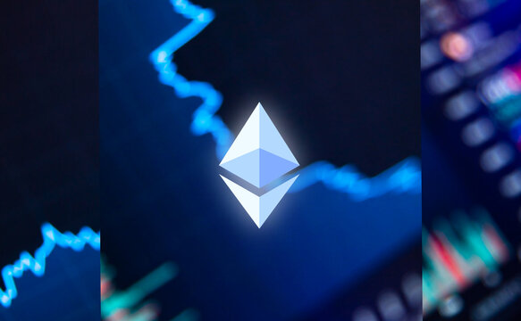 The ethereum coin, a cryptocurrency. exchange, the growth of cryptocurrencies.