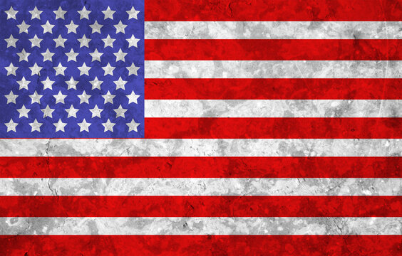Full Frame Shot Of American Flag Painted On Wall