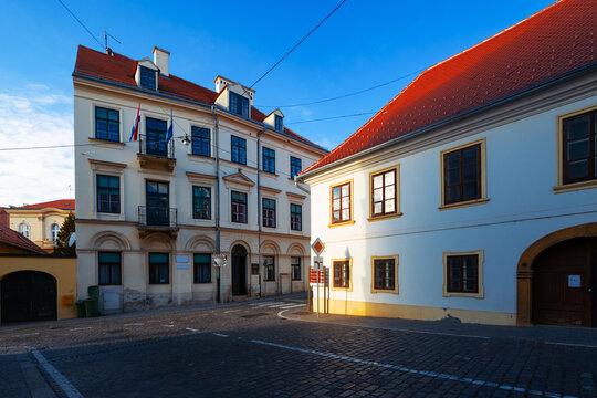 old architecture of Zagreb. Croatia.