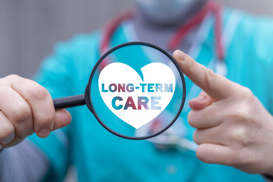 Concept of long-term care. LTC Medical insurance elderly and invalid.