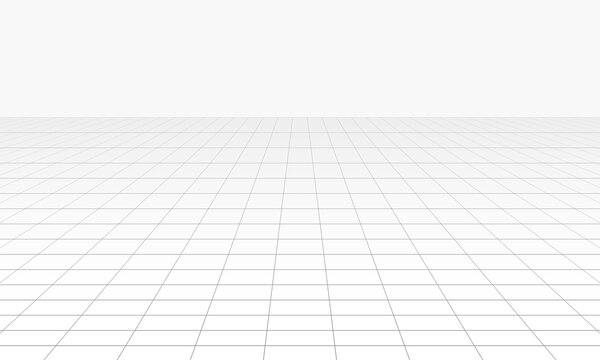 Vector perspective grid. Abstract wireframe landscape.