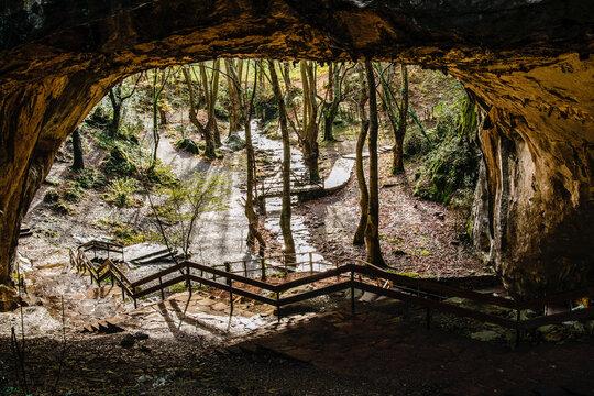 Zugarramurdi cave, in Navarra, lonely on a sunny morning