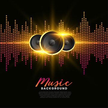 music speakers background album cover poster