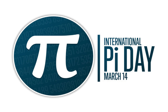 Happy National Pi Day. March 14. Holiday concept. Template for background, banner, card, poster with text inscription. Vector EPS10 illustration.