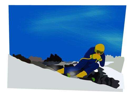 sciatore sulle montagne