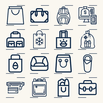 Simple set of steal related lineal icons.