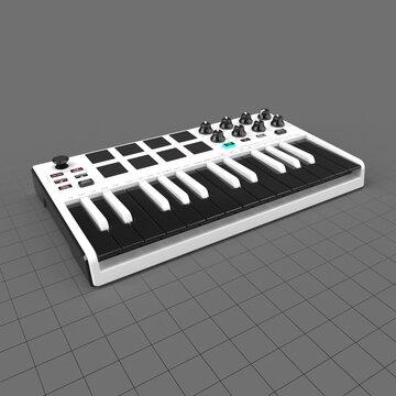 25 key mini keyboard controller