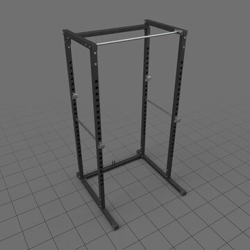 Adjustable squat cage