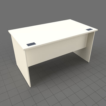 Panel end office desk