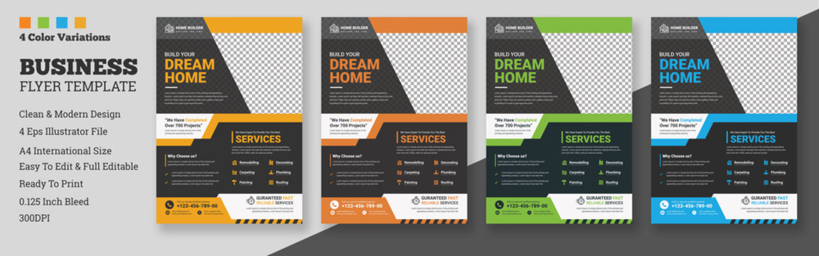 House repair cover A4 template for a construction tools report and brochure design, flyer, leaflets decoration for printing and presentation vector illustration, A4 construction cover template