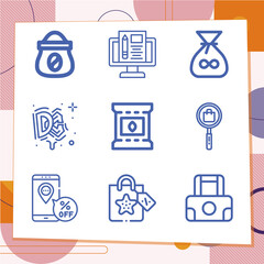 Fototapeta Simple set of 9 icons related to sale obraz