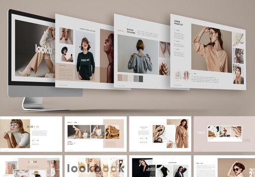 Minimal Nude Color Fashion Lookbook Presentation Layout