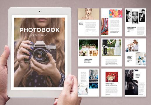 Simple Digital Photobook and Portfolio Layout