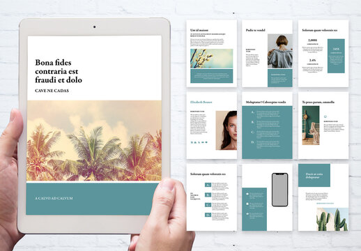 Style Guide and Portfolio for Blogger Layout