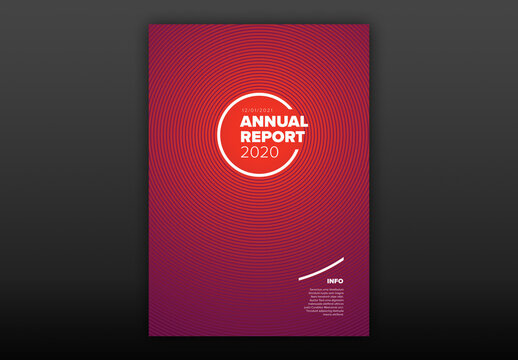 Red Annual Report Front Cover Page Layout