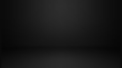 Obraz Empty black color studio room background, can use for background and product display - fototapety do salonu