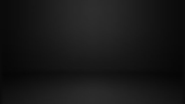 Empty black color studio room background, can use for background and product display