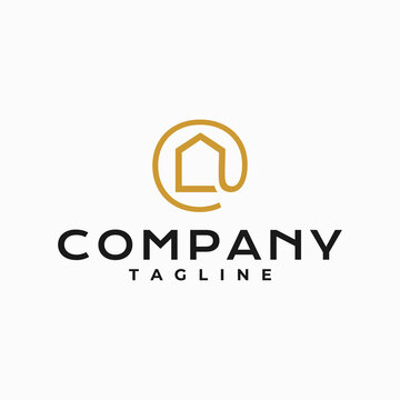 The logo design combines the real estate industry and the ampersat sign.