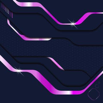 Abstract modern dark metallic background. Sci-fi techno cyberpunk style layered plates. Vector illustration