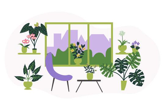 Home garden illustration