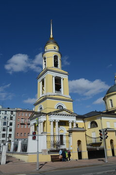 The Church of the ascension in the Watchmen Nikitsky gate on Bolshaya Nikitskaya street in Moscow