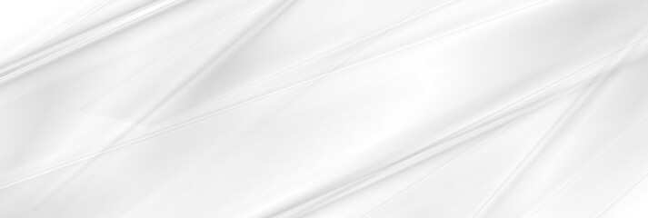 White and grey smooth stripes abstract minimal geometric background. Futuristic vector banner design