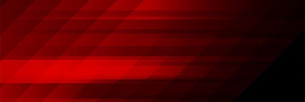 Dark red abstract geometric minimal banner. Technology vector background