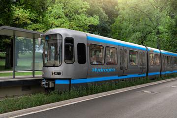 A hydrogen fuel cell train concept