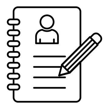 Vector Agenda Outline Icon Design