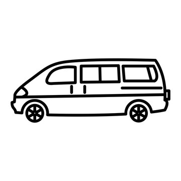 Vector Van Outline Icon Design