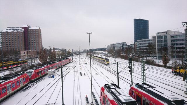 Schneechaos Bahn Züge