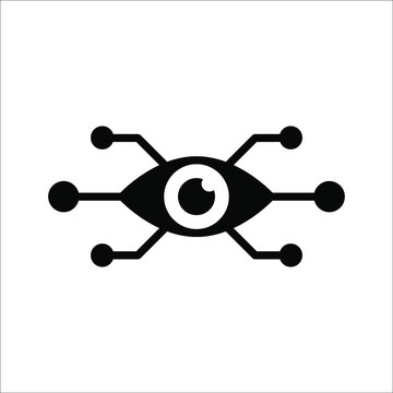 Bionic eye icon on white background from artificial intellegence and future technology collection. color editable eps 10