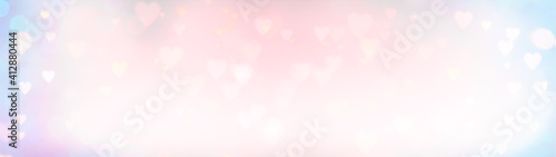 Abstract heart background banner - Valentine's Day, Mother's Day, Birthday wallpaper - Happy Valentine's Day