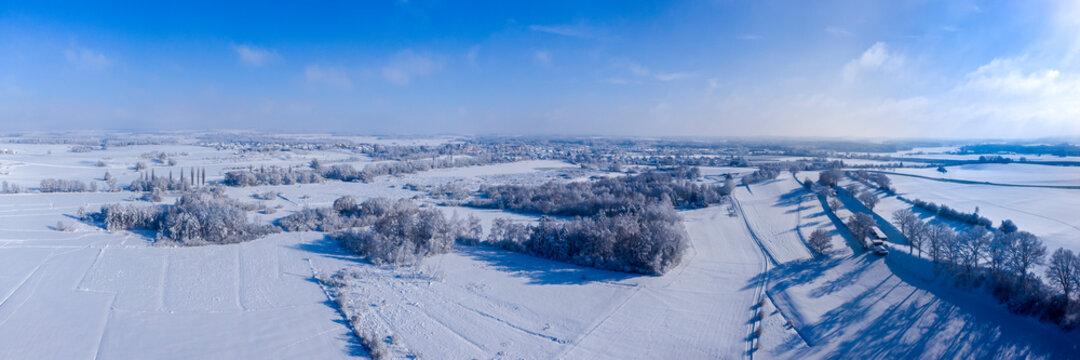 Winterpanorama Altshausen, Oberschwaben
