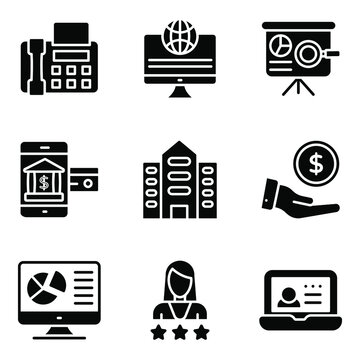 Customizable Business Solid Icons Pack