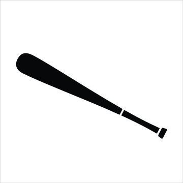 Baseball bat icon isolated on white background from sports collection. Trendy baseball bat icon and modern baseball bat symbol for logo, web, app, UI. Simple baseball sign icon.