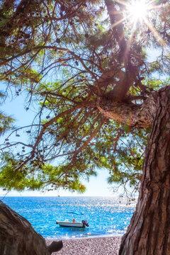 Beautiful bay on the Carian trail. Aegean Sea, Turkey.