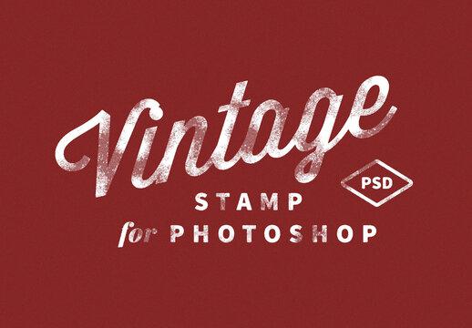 Vintage Stamp Distressed Logo Mockup