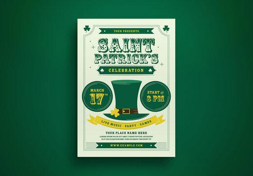 St Patrick Day Flyer Layout 2