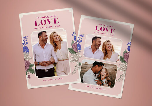 Greeting Cards Valentine Layout