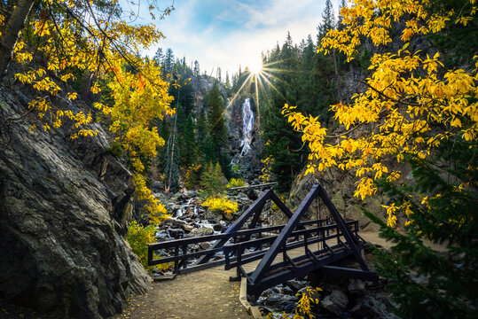 Fish Creek Falls, Steamboat Springs, Colorado in Autumn