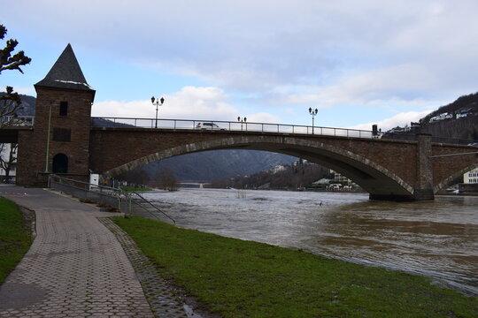 Moselhochwasser in Cochem