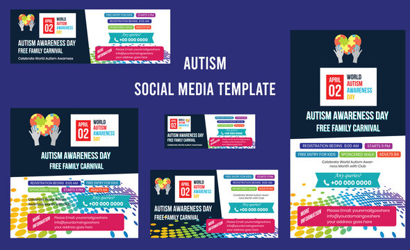 World autism awareness day. colorful puzzles vector background. Health care ,banner or poster of World autism awareness day