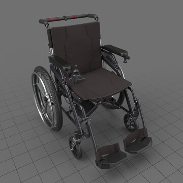 Hybrid manual and power wheelchair