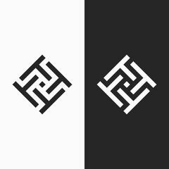 Fototapeta Letter T Ambigram Logo. Modern logo. obraz