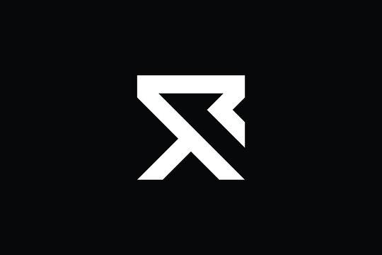 RX logo letter design on luxury background. XR logo monogram initials letter concept. RX icon logo design. XR elegant and Professional letter icon design on black background. R X XR RX